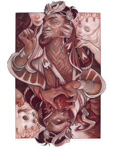 Illustrated playing cards by fantasy artist Wylie Beckert.