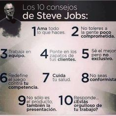10 consejos by Steve Job Human Resources, Some Words, Study Tips, Wisdom Quotes, Business Tips, Sentences, Quotations, Qoutes, Leadership
