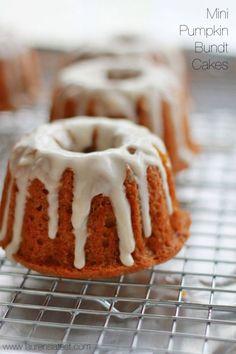 Mini Glazed Pumpkin Bundt Cakes