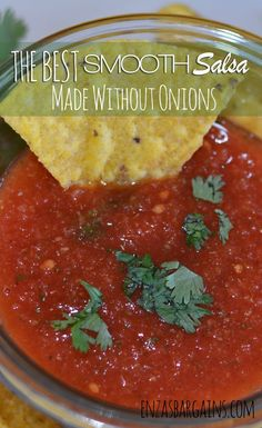 Smooth Salsa Without Onions Recipe – Made with Red Gold Tomatoes