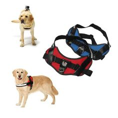 Adjustable Dog Fetch Harness Chest Strap Belt For Gopro 4 3 Plus 3 2 Xiaomi Yi Sj4000. Adjustable Dog Fetch Harness Chest Strap Belt Mount For GoPro Hero 4 3  3 2 Xiaomi Yi SJ4000 SJ5000 SJcam    Which Color is Best Fit Your Lovely Dog             Features:  Mounts work on all GoPro cameras including GoPro Hero2, Hero3, Hero3 , Hero 4 This harness allows you to mount your GoPro to your dogs back and watch the world from his point of view! You will be amazed how…