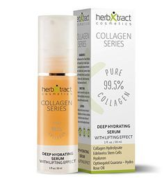 Hydrating Eye Serum with Anti-age Effect - Lifting Gel Serum for Wrinkles, Face and Neck with Hyaluronic acid, Collagen, Edelweiss Stem Cells, Guarana Extract and Rose Oil - 1 fl.oz.