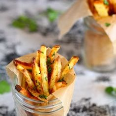 Easy homemade garlic cilantro fries, you'll never look back!