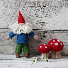 Felt Toadstools – Tribe Castlemaine Nature Table, Consumerism, Faeries, Fair Trade, Wool Felt, Recycling, Kids, Crafts, Handmade