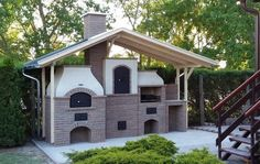 Kerti konyha tetővel, kemence, sütögető, bográcsozó, grillező Four A Pizza, Pizza Oven Outdoor, Modern Style Homes, Building Art, Natural Building, Bbq Grill, Grill Oven, Gazebo, Shed