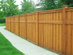 Outdoor fences come in a lot of styles. One of the most popular is the shadow box outdoor fences. These outdoor fences feature pickets on both sides of the fence rails. Lattice Fence Panels, Privacy Fence Panels, Privacy Fence Designs, Shadow Box Fence, Wooden Shadow Box, Backyard Fences, Garden Fencing, Fence Landscaping, Uses Of Wood