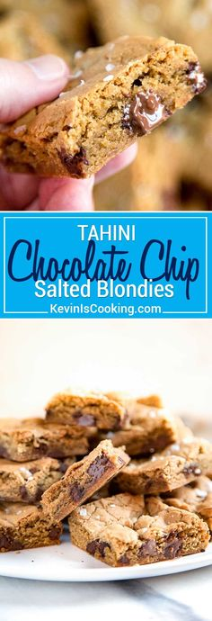 My Tahini Blondies get an update using tahini, which adds a nutty richness and elevates the average blondie to a sophisticated and tasty dessert bar. via @keviniscooking
