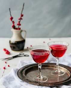 Raise a glass to the last days of winter with this dazzling drink. Serves two