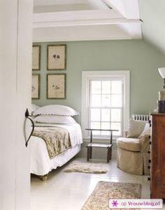 Kleur voor de muur? Licht olijfgroen