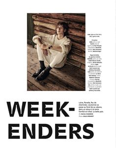 Weekenders: Sam Lammar & Cal Fernie for Grazia Hommes Sandro, Saint Laurent, Chunky Knitwear, Pull, Editorial Fashion, Sweaters, Movie Posters, Eagle, Sweater