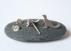 T-Rex Dinosaur Stud Earrings ~she wants these!