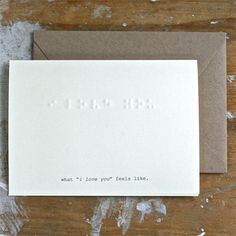 """What """"I Love You"""" Feels Like      (not strictly letterpress, but ...)"""
