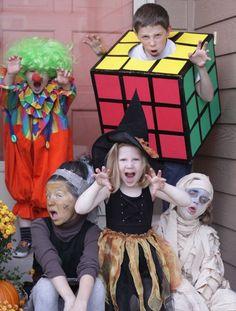 Halloween costumes -- rubic cube