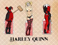 Harley Quinn Paper Doll by shaynahall on @DeviantArt