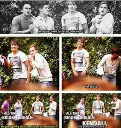 This is the greatest blooper of all time. Kendall's laugh is the best.