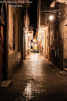 The narrow road . Tripoli Libya