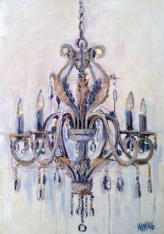 Chandelier 50 Cm X 70 Painting Mixed Media 2016 Love