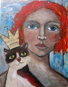 KING or QUEEN of the HOUSE - Mixed Media Painting