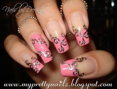 elegant nail designs | My Pretty Nailz: Easy Elegant French Tips Nail Art Design, Video ...