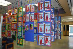 hang an art show- directions for teachers to DIY!