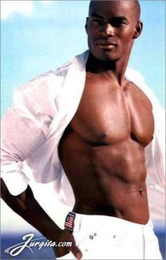 Model Tyson Beckford.  Women like a man with a nice physique.