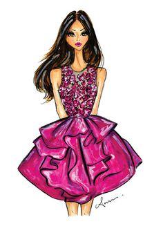 sketch is me — Fashion Illustration Print, Marchesa