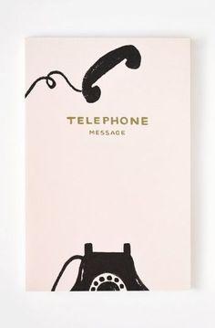 Vintage Telephone Notepad