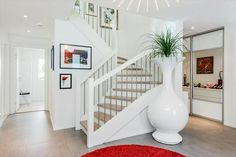 Bolig til salgs Stairs, Real Estate, Urban, Home Decor, Stairway, Real Estates, Decoration Home, Staircases, Room Decor