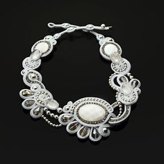 "Soutache necklace ""Bella di Notte"""