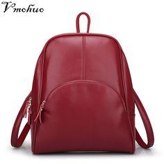 VMOHUO Genuine Leather Women Backpack Student s Backpacks Female School  Shoulder Bag Mini Backpacks For adolescent girls dd7ef50cbc912