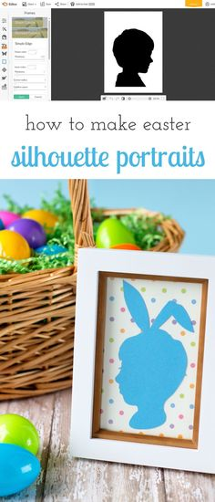 How to make Easter Silhouette Portraits using PicMonkey or Photoshop. This keepsake craft is perfect for kids of all ages! via @https://www.pinterest.com/fireflymudpie/
