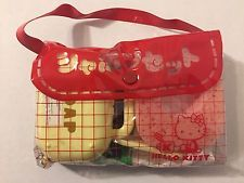 Vintage 1970s nuevo sin usar Sanrio Hello Kitty Kit de Viaje Bolso Toallero Jabón