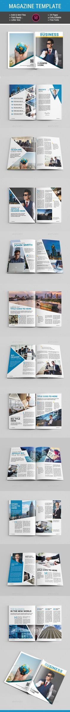 Business Magazine Template InDesign INDD