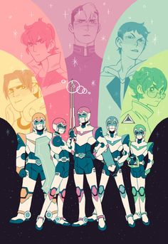 Voltron print!  I had such a great time watching this show, I can't wait for season 2!