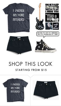 """""""QOTD - What Are Your Favorite Bands?"""" by michytherockerplatypus ❤ liked on Polyvore featuring MANGO, Converse, Prada and xO Design"""