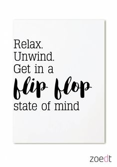 Kaart Relax Unwind Get in a flipflop state of mind - Zoedt