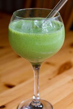 green monster smoothie with chia seeds. Chia seeds are an amazing detox super food rich in omega-3 fatty acids, fiber and protein.