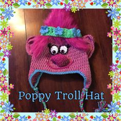 Poppy Troll Crochet Hat Troll Hat Winter Hat by CraftsbyTine