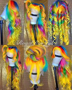 # birthday weave Hairstyles human hair wigs on Mercari Baddie Hairstyles, Black Girls Hairstyles, Pretty Hairstyles, Hairstyle Men, Funky Hairstyles, Formal Hairstyles, Wedding Hairstyles, Cute Hair Colors, Pretty Hair Color