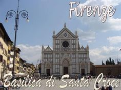 Firenze the Largest Franciscan Church in the World Filippo Brunelleschi, Holy Cross, St Francis, Florence Italy, Michelangelo, Roman Catholic, Building Design, Places To Travel, Facade