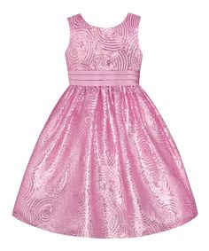Take a look at this Ice Pink Sequin Swirl Dress - Infant, Toddler & Girls on zulily today!