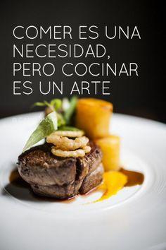 Comer es una necesidad pero cocinar es un arte.  @Candidman   #Frases Candidman Cocinar Reflexión @candidman