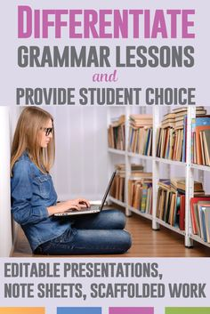 Assign different grammar lessons based on student needs. Give each student a presentation - all of these are editable. Study phrases, clauses, types of sentences, and more.