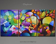 Original Abstract Painting DREAMING TREE Tree by SallyTraceFineArt