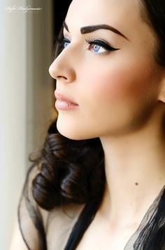 makeup - flawless foundation and heavy liner flick  Beautiful! Xx