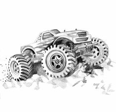 Printable Monster Coloring Pages Awesome Free Printable Monster Truck Coloring Pages for Kids Peppa Pig Coloring Pages, Monster Truck Coloring Pages, Space Coloring Pages, Pokemon Coloring Pages, Cartoon Coloring Pages, Coloring Pages To Print, Free Printable Coloring Pages, Adult Coloring Pages, Snowflake Coloring Pages