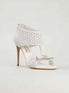#Salvatore #Ferragamo 'pella' Sandals - Verso - Farfetch.com #ehite #sandals #velour #highheels