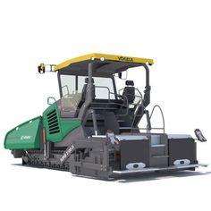 asphalt paver vogele super 2100 3i 3d model max obj 3ds fbx lwo lw lws mtl