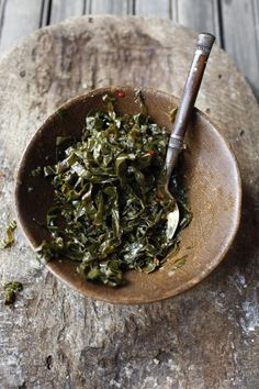 Ye'abesha Gomen,  Ethiopian Collard Greens  Recipe from Saveur.com