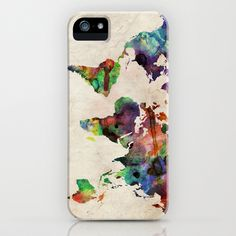 World Map Urban Watercolor iPhone & iPod Case by ArtPause - $35.00 @Mia Kuntohadi